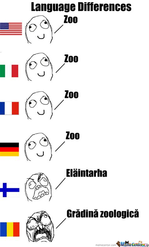 Language Memes - language differences zoo by gxz95 meme center