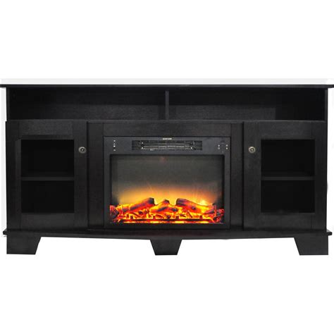 fireplace display cambridge savona 59 in electric fireplace in black coffee