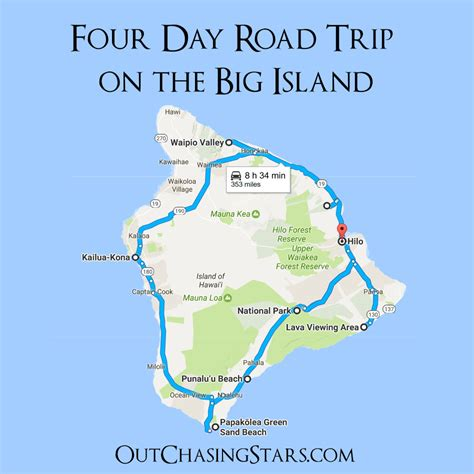 map out my trip out chasing aloha big island out chasing