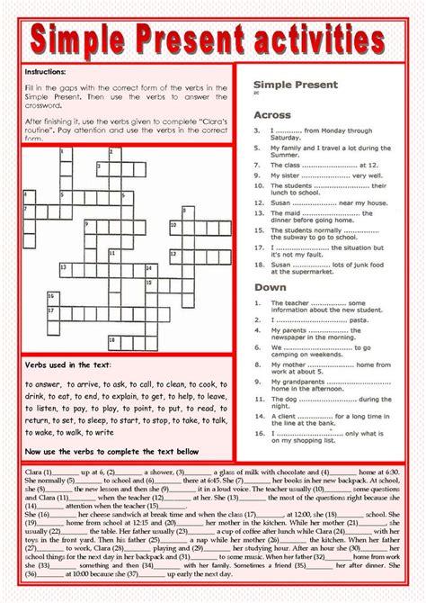 present simple worksheet pdf exercises present