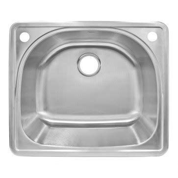 lclt91 top mount stainless steel single basin kitchen sink