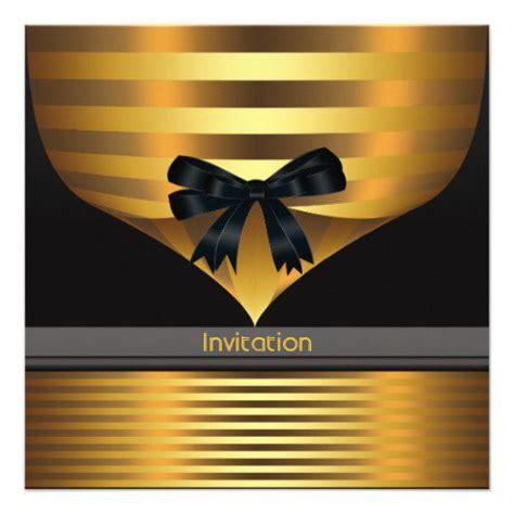 Black And Gold Invitations Black White And Gold Invitation Templates