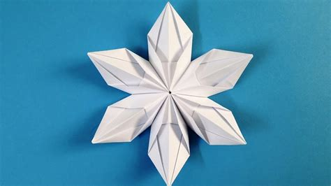 How To Make Origami Snowflakes - origami snowflake how to make beautiful 3d snowflakes
