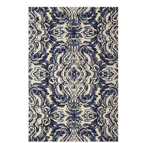 home decorators collection tufted white 8 ft x home decorators collection gramercy white blue 5 ft 3 in x 8 ft area rug 9251320410 the