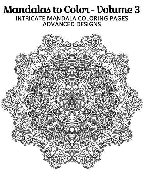 intricate coloring pages free printable mandala coloring page from mandalas to