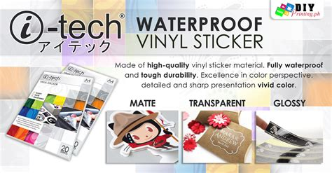 printable vinyl i tech waterproof printable vinyl sticker