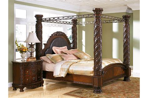 north shore canopy bedroom set north shore king canopy bed ashley furniture homestore
