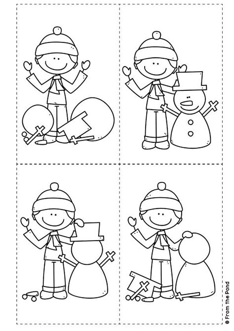 printable snowman activities for preschool sequence and write let s build a snowman