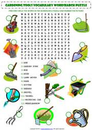 Garden Tool Crossword Answer An Enjoyable Wordsearch Puzzle Esl Worksheet For To