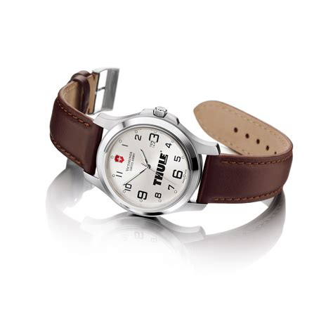 Swiss Army Original Silver Brown Leather victorinox swiss army garrison elegance large silver