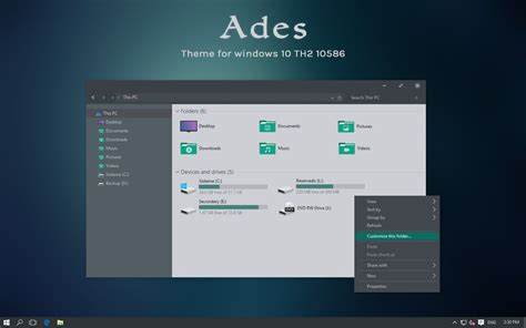 microsoft themes win 10 ades theme for windows 10 th2 by unisira on deviantart