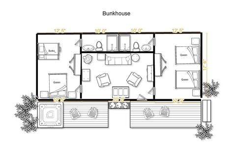 bunkhouse floor plans bunkhouse 2 bedroom western cabin the home ranch