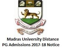 Last Date For Mba Admission In Madras Distance Education by Madras Distance Education Pg Admission 2017