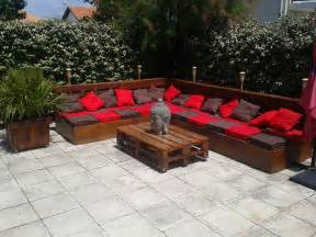 Wood Pallet Patio Furniture Best Diy Pallet Deck Ideas