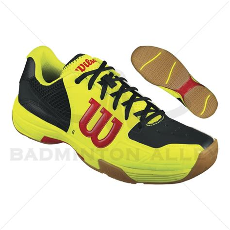 wilson shoes wilson recon yellow black badminton shoes