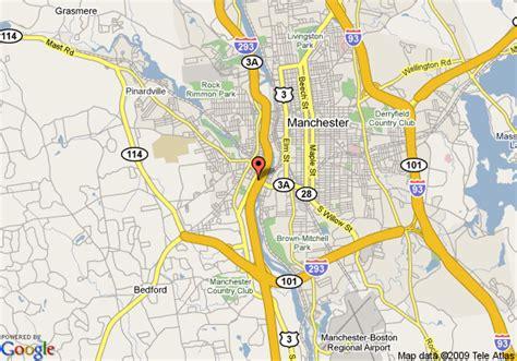 manchester new hshire map map of comfort inn manchester manchester