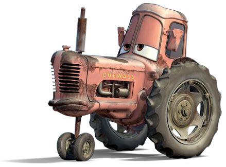 world of cars : présentation du personnage tractor