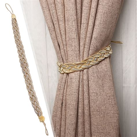 curtain ropes 1 pair of braided tiebacks tie back rope curtains