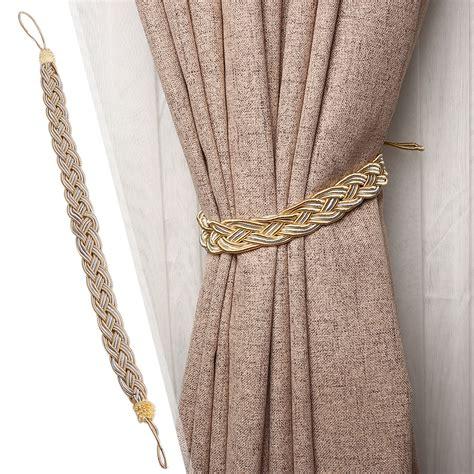 curtain rope 1 pair of braided tiebacks tie back rope curtains
