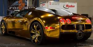 Bugatti Gold Chrome Definition Of Ghastly Flo Rida S Gold Chrome Bugatti Veyron