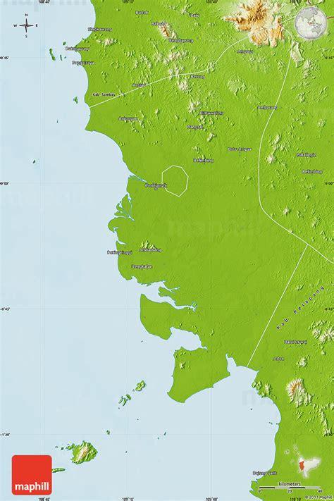 pontianak map physical map of kab pontianak
