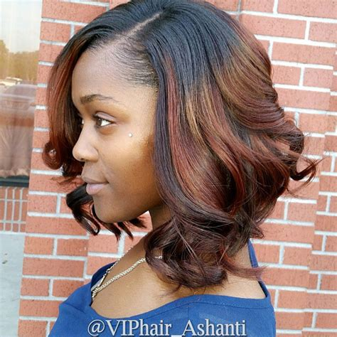 auburn highlights fir black women short hairdos top 21 best bob hairstyles for black women pretty designs