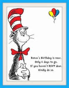 cat in the hat themed 1st birthday rsvp reminder dr seuss cats the o jays and