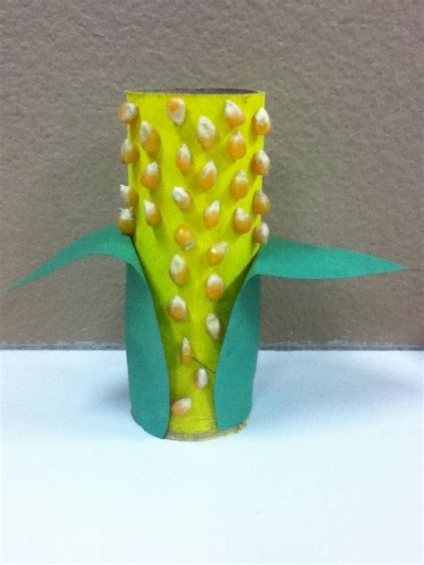 harvest corn craft using toilet paper roll yellow paint