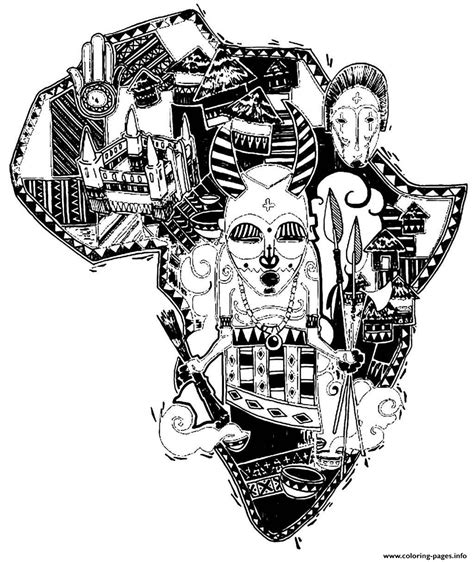 colouring book for adults south africa africa difficult map coloring pages printable