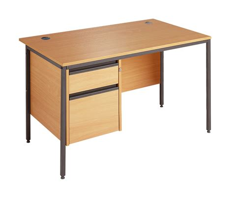 straight desk with drawers maestro straight desk with 2 pedestal