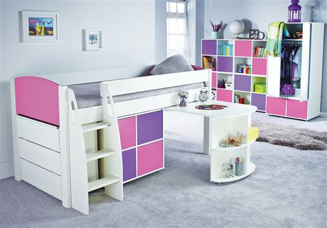 Stompa Beds Mid Sleeper by Stompa Uno S Midsleeper Cube Unit And Chest