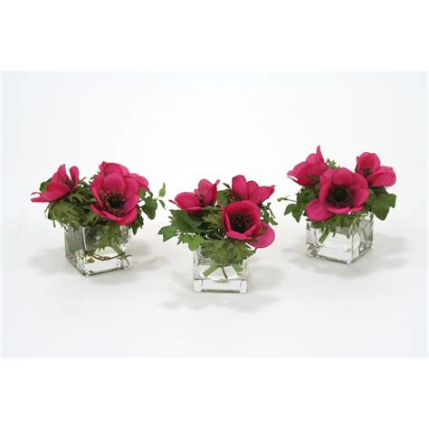 Flowers In Square Vase by Anemone And In Square Glass Vase Free Shipping In