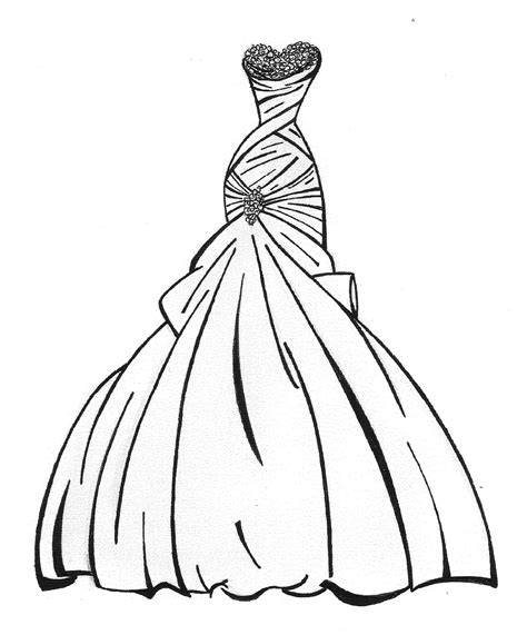 coloring book dress free wedding dress coloring pages