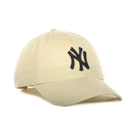 up hat 47 brand new york yankees clean up hat in beige for lyst