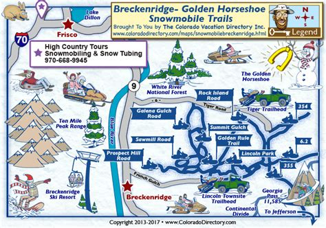 Breckenridge Snowmobile Trails Map   Colorado Vacation