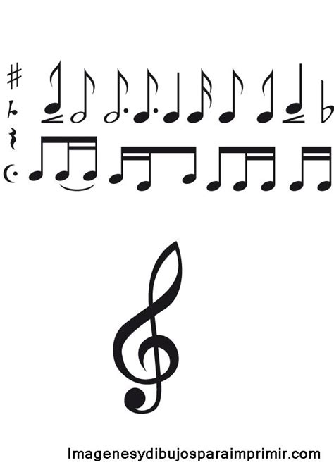 imagenes notas musicales para facebook 25 best ideas about dibujos de notas musicales on