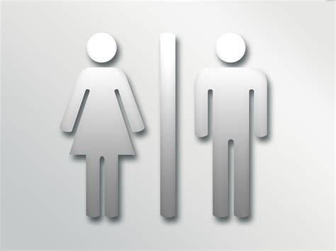 bathroom signal male female bathroom sign