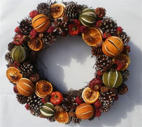 pollyfields deluxe handmade christmas wreath cm dried
