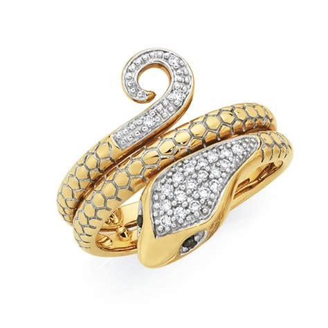 9ct gold snake ring goldmark australia