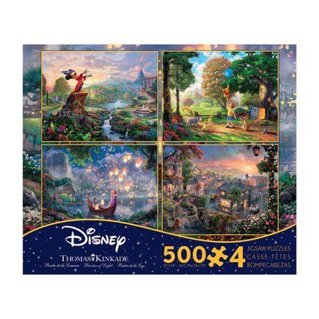 1449453562 thomas kinkade the disney dreams thomas kinkade disney dreams 4 in 1 jigsaw puzzle multi
