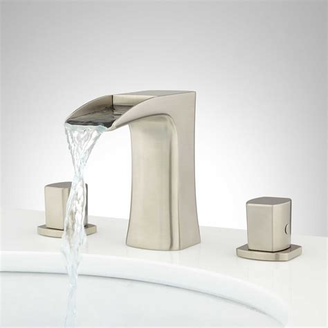 Waterfall Faucet Bathroom Ravana Widespread Waterfall Faucet Widespread Faucets Bathroom Sink Faucets Bathroom