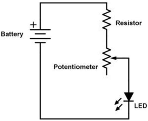 simple led circuit without resistor the potentiometer and wiring guide build electronic circuits
