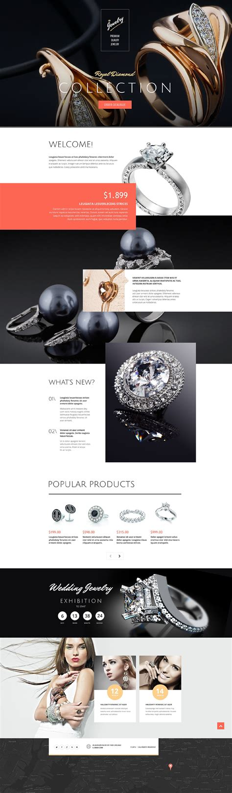 drupal themes jewelry jewelry responsive landing page template 53680