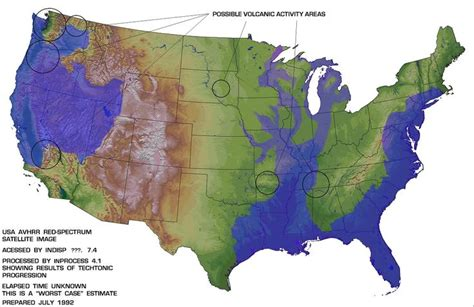 edgar cayce future map of america 25 best flood map ideas on