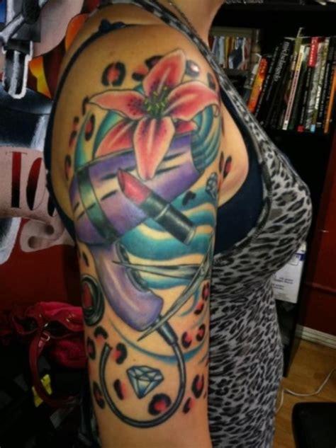 quarter sleeve tattoo with words 27 sleeve girl tattoos tattoofanblog