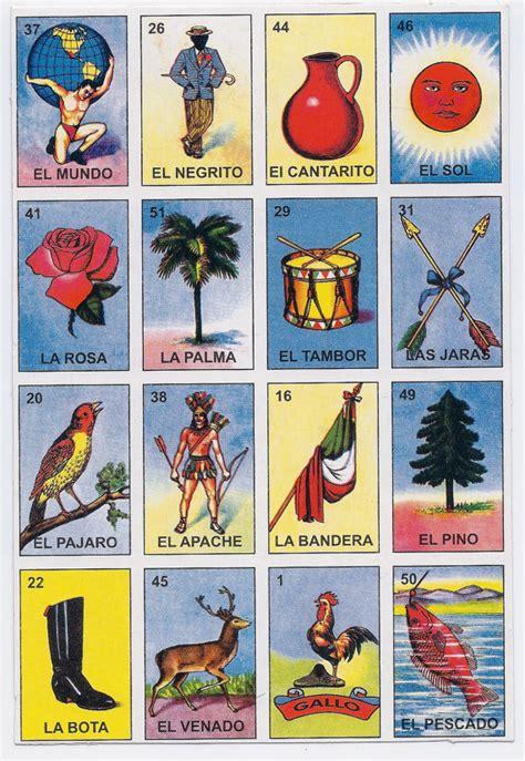 loteria mexican bingo card game set