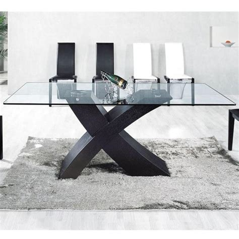pied de table central pas cher table verre pied central blanc