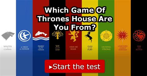game of thrones house quiz which game of thrones house are you from