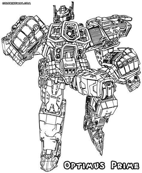 Optimus Prime Coloring Page by Transformers Prime Optimus Prime Coloring Pages 20