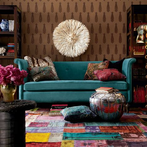 teal sofa decorating ideas eclectic living room